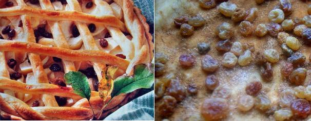 Пирог с корицей и изюмом